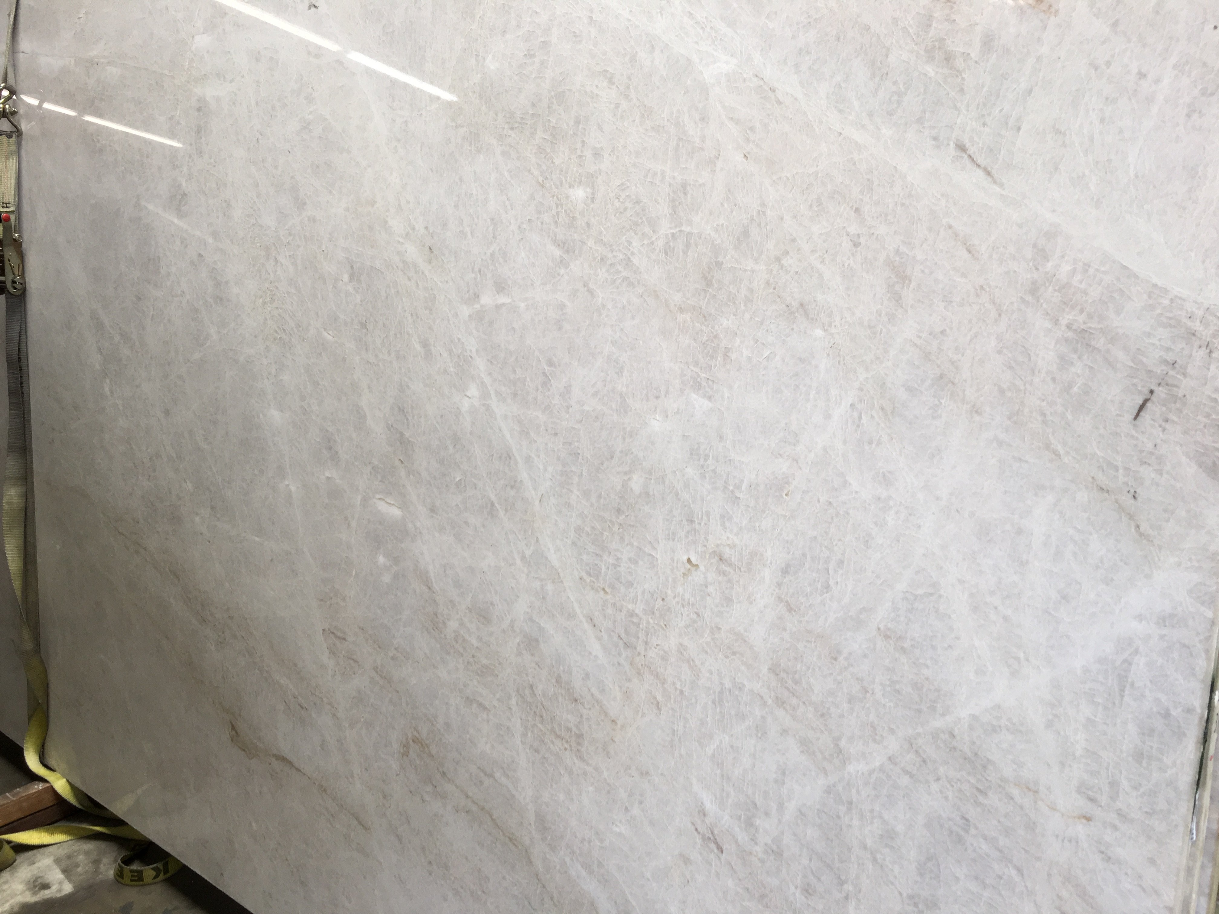 The Kitchen Collection Inc Perla Venato Polished Quartzite Slab Trendy Surfaces