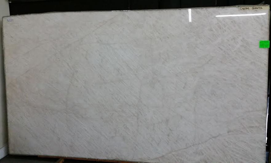 Crystal Quartz Polished Quartzite Slab Trendy Surfaces