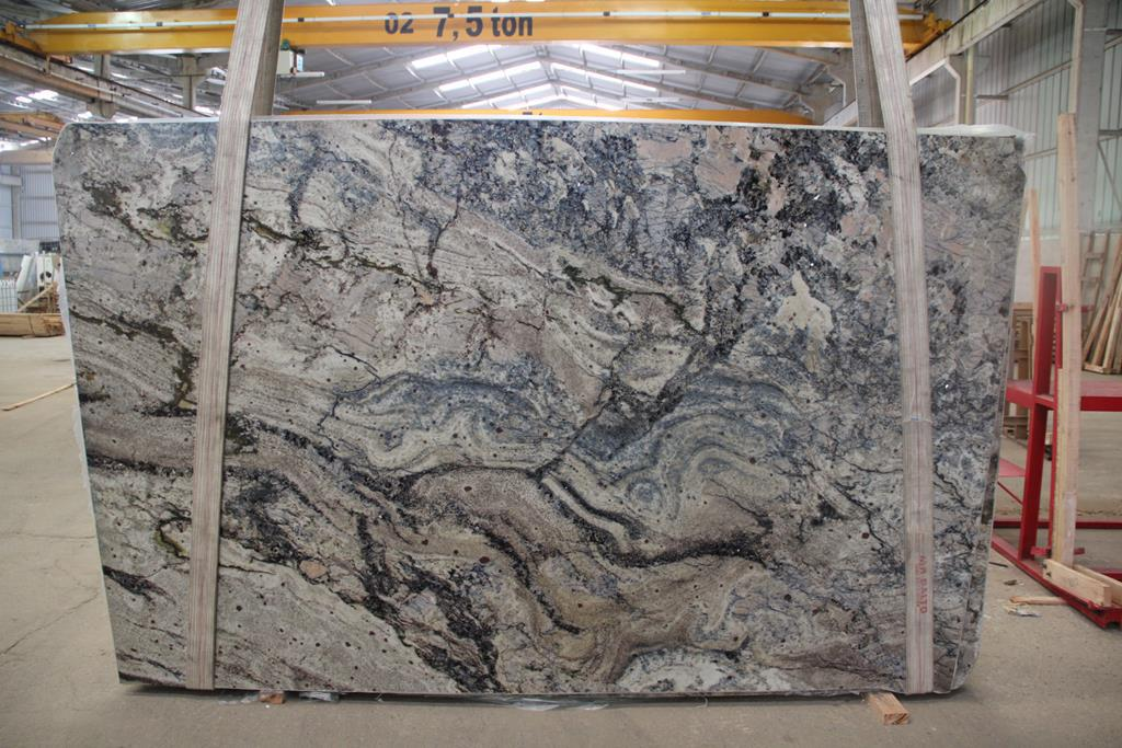Azurite Polished Granite Slab Trendy Surfaces