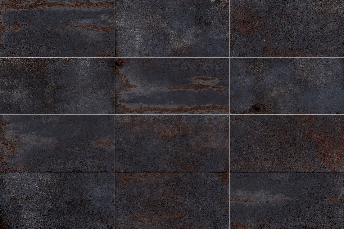 Metallic Black Porcelain Tile Trendy Surfaces