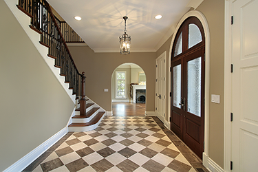 A home's foyer