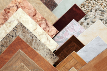 a variety of ceramic tile samples